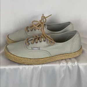Vans espadrilles sneakers women's 8 pale blue